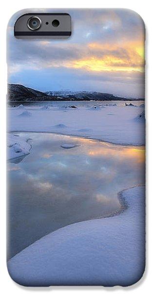 The Fjord Of Tjeldsundet In Troms iPhone Case by Arild Heitmann