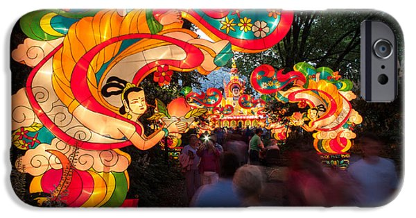 Installation Art Photographs iPhone Cases - The Flying Apsaras iPhone Case by Semmick Photo
