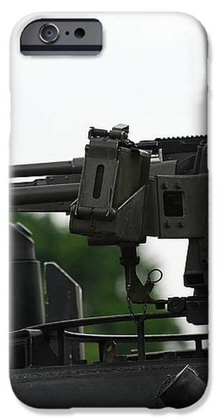 The Fn Mag Gun On The Turret iPhone Case by Luc De Jaeger