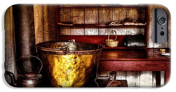 Sheets iPhone Cases - The Fort Nisqually Wash Room iPhone Case by David Patterson