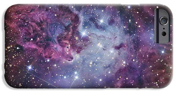 Starfield iPhone Cases - The Fox Fur Nebula iPhone Case by R Jay GaBany