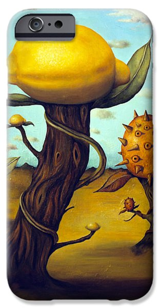 Pear Tree Paintings iPhone Cases - The Fruit Orchard iPhone Case by Leah Saulnier The Painting Maniac