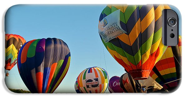 Hot Air Balloon iPhone Cases - The Gang 3 iPhone Case by Mark Dodd