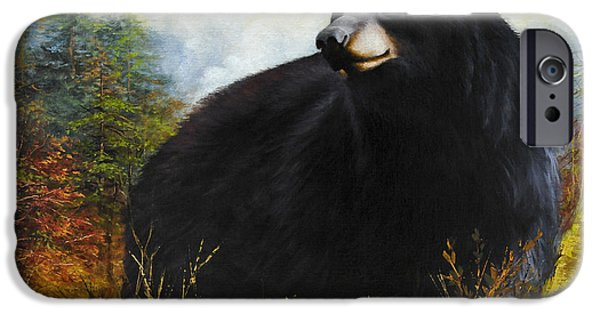Landscape With Mountains iPhone Cases - The Gatekeeper iPhone Case by Katherine Tucker