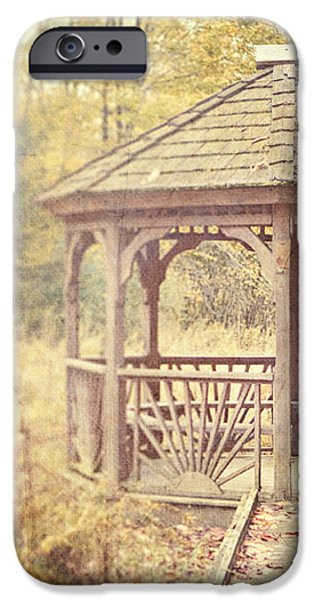 The Gazebo in the Woods iPhone Case by Lisa Russo
