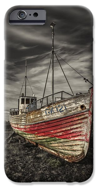 Eerie iPhone Cases - The Ghost Ship iPhone Case by Evelina Kremsdorf