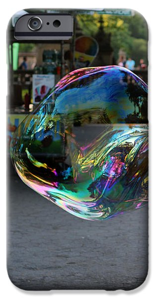 The Giant Bubble at Bethesda Terrace iPhone Case by Lee Dos Santos