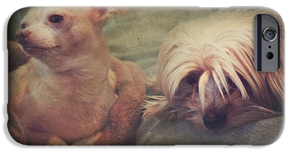 Dogs Digital Art iPhone Cases - The Girls iPhone Case by Laurie Search