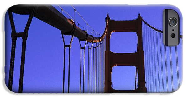 San Francisco Famous Photographers iPhone Cases - The Golden Gate Bridge iPhone Case by Bob Christopher
