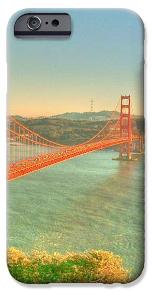 The Golden Gate Bridge  Fall Season iPhone Case by Alberta Brown Buller
