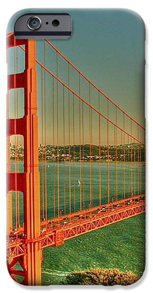 The Golden Gate Bridge Summer iPhone Case by Alberta Brown Buller