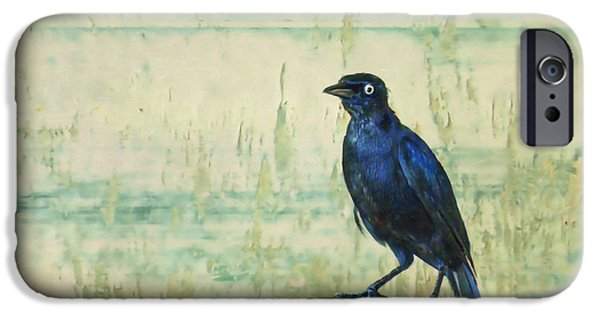 Painter Digital Art iPhone Cases - The Grackle iPhone Case by John Edwards