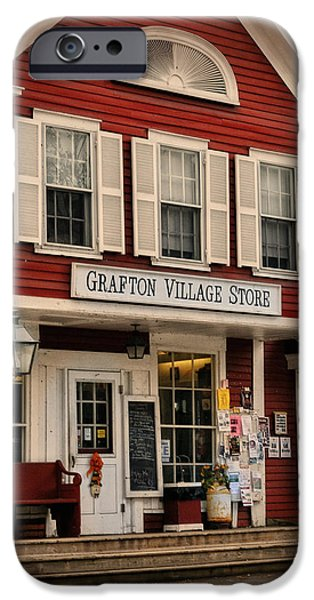 The Grafton Vermont Village Store iPhone Case by Thomas Schoeller