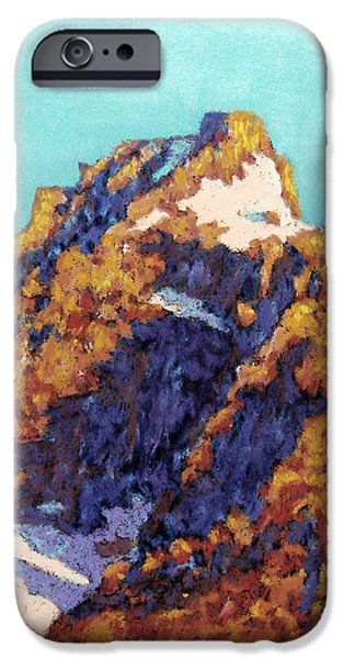 Original Pastels iPhone Cases - The Grand Teton iPhone Case by Abbie Groves
