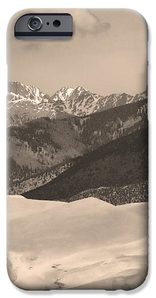 The Great Sand Dunes Sepia Print 45 iPhone Case by James BO  Insogna