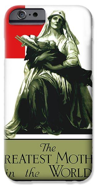 World War One iPhone Cases - The Greatest Mother In The World iPhone Case by War Is Hell Store