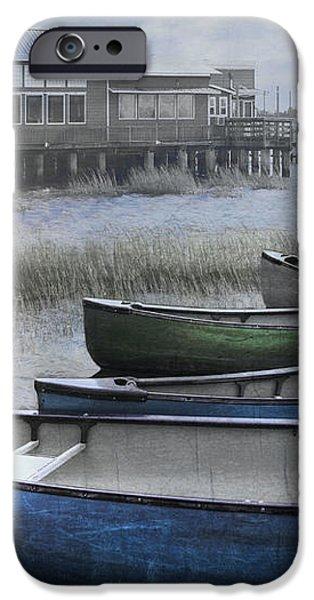 The Green Canoe iPhone Case by Debra and Dave Vanderlaan