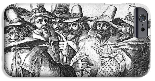 King James iPhone Cases - The Gunpowder Rebellion, 1605 iPhone Case by Photo Researchers