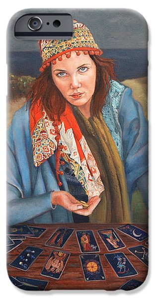 The Gypsy Fortune Teller iPhone Case by Enzie Shahmiri