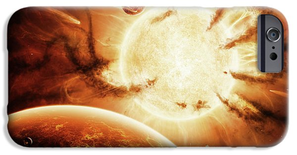Destiny Digital iPhone Cases - The Hand Of Destiny Nebula Is Devouring iPhone Case by Brian Christensen