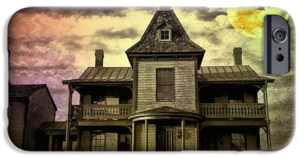 Haunted House iPhone Cases - The Haunted Mansion iPhone Case by Bill Cannon