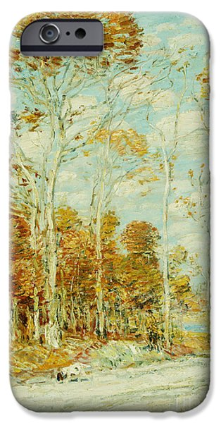 Childe iPhone Cases - The Hawks Nest iPhone Case by Childe Hassam
