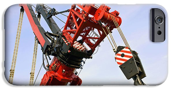 Construction Equipment iPhone Cases - The Head And Primary Hoist iPhone Case by Corepics