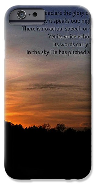 The Heavens Declare iPhone Case by Benanne Stiens