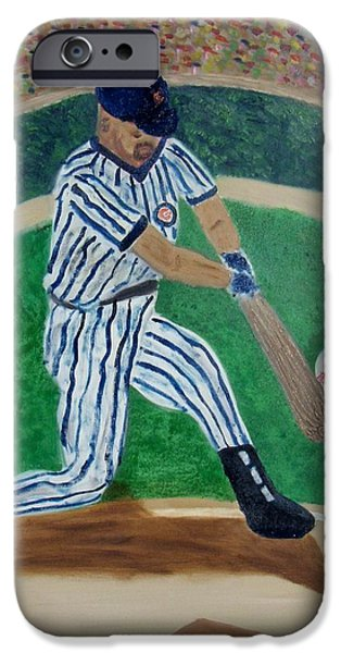 Wrigley Paintings iPhone Cases - the Hit iPhone Case by M and L Creations