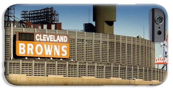 Cleveland iPhone Cases - The Hometeams in Color iPhone Case by Kenneth Krolikowski
