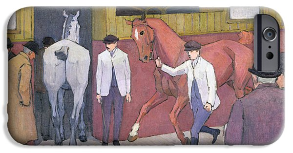 The Horse iPhone Cases - The Horse Mart  iPhone Case by Robert Polhill Bevan