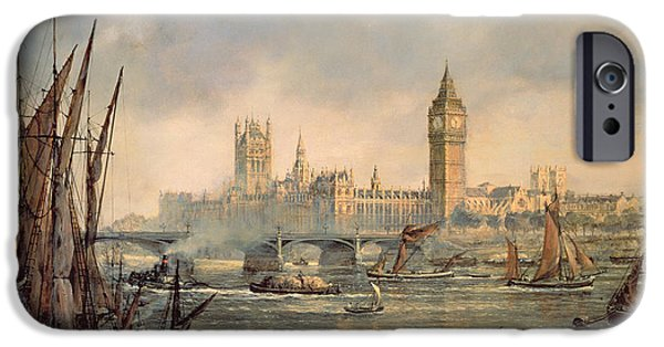 Houses Of Parliament iPhone Cases - The Houses of Parliament and Westminster Bridge iPhone Case by Richard Willis