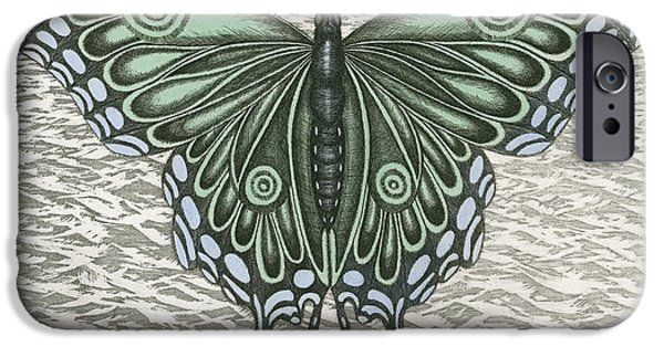 Blue Swallowtail iPhone Cases - The Intro-Spector iPhone Case by Charles Harden