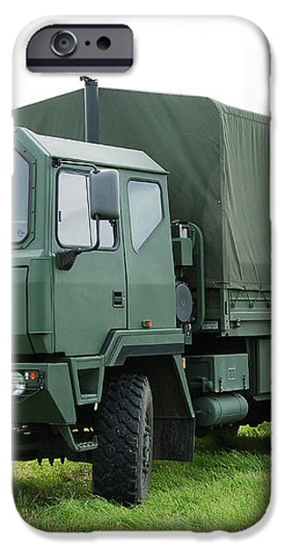 The Iveco M250 Used By The Belgian Army iPhone Case by Luc De Jaeger