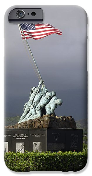 The Iwo Jima Statue iPhone Case by Michael Wood