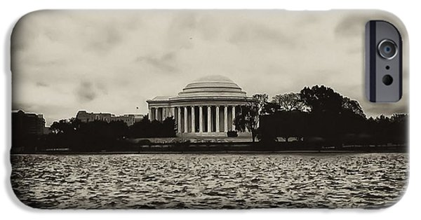 D.c. Digital Art iPhone Cases - The Jefferson Memorial iPhone Case by Bill Cannon