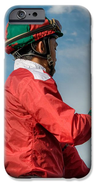 Horse Racing iPhone Cases - The Jockey iPhone Case by David Patterson