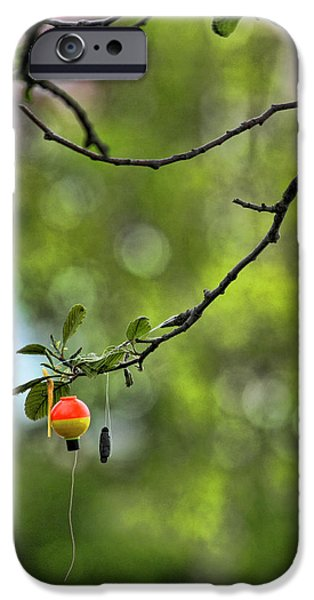 The Joy of Fishing iPhone Case by Bonnie Bruno
