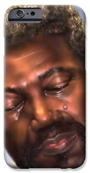 Torn iPhone Cases - The Joy Of My Salvation 2 iPhone Case by Reggie Duffie