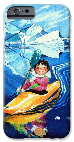 The Kayak Racer 13 iPhone Case by Hanne Lore Koehler