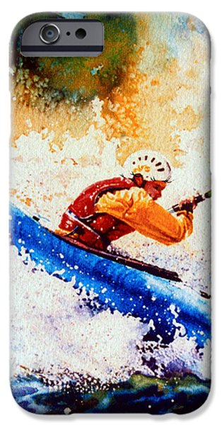 The Kayak Racer 17 iPhone Case by Hanne Lore Koehler