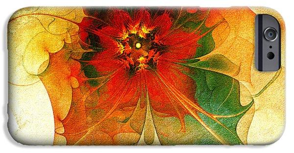 Floral Digital Art Digital Art iPhone Cases - The Keepsake iPhone Case by Amanda Moore