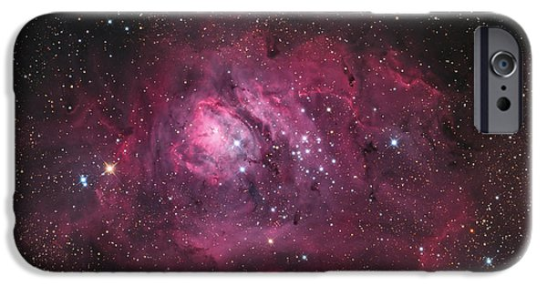 Constellations iPhone Cases - The Lagoon Nebula iPhone Case by Roth Ritter