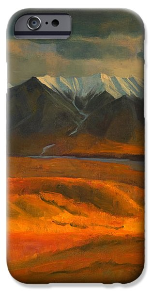The Land Beyond the Red Tundra iPhone Case by Douglas Girard