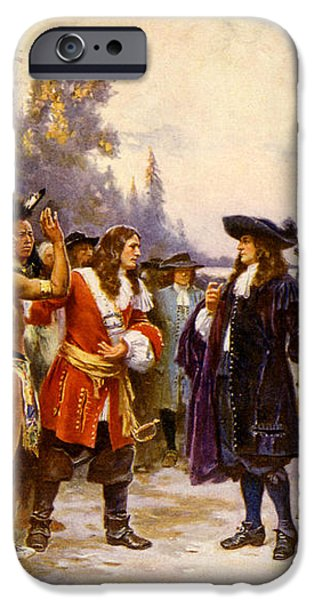 The Landing Of William Penn, 1682 iPhone Case by Photo Researchers