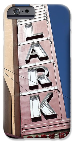 The Lark Theater in Larkspur California - 5D18489 iPhone Case by Wingsdomain Art and Photography