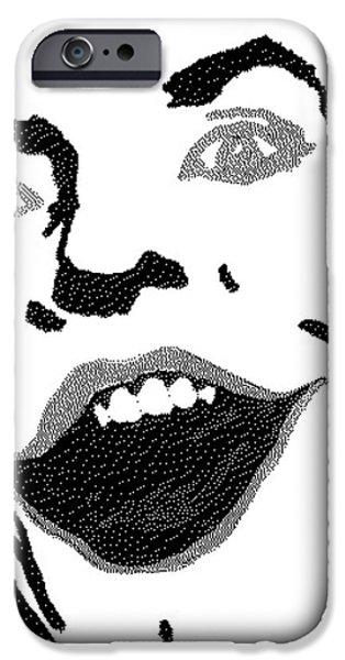 Drawing Of Frank Ocean iPhone Cases - The Last Joke iPhone Case by Robert Margetts
