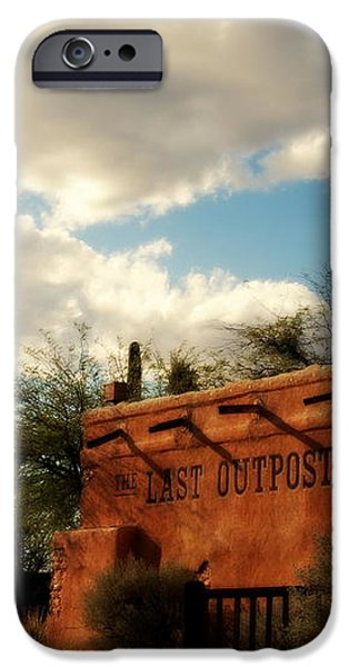 The Last Outpost Old Tuscon Arizona iPhone Case by Susanne Van Hulst