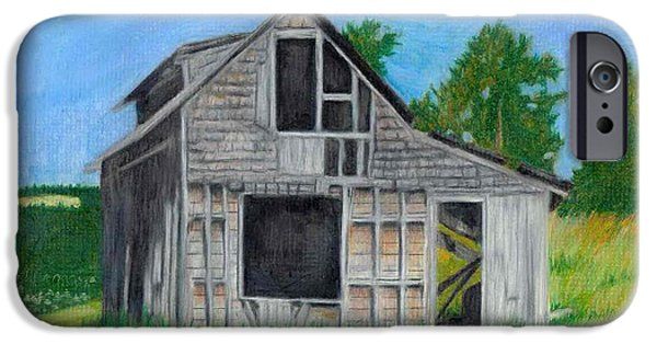 Haunted House Pastels iPhone Cases - The Last Stage Stop iPhone Case by Mendy Pedersen