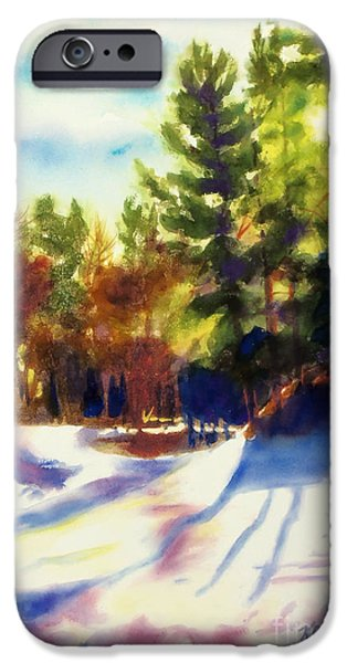 Pines Mixed Media iPhone Cases - The Last Traces II iPhone Case by Kathy Braud